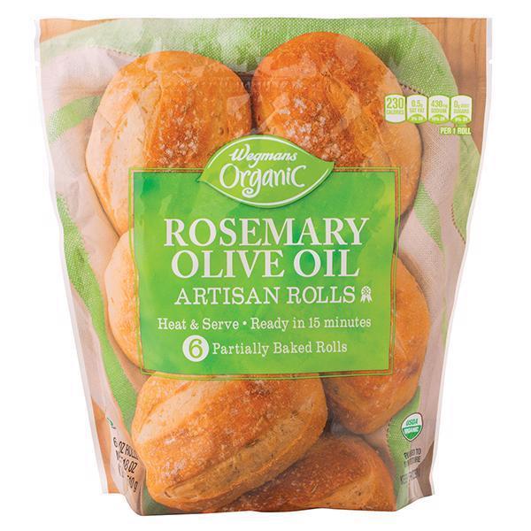 Wegmans Organic Rolls Artisan Rosemary Olive Oil Wegmans