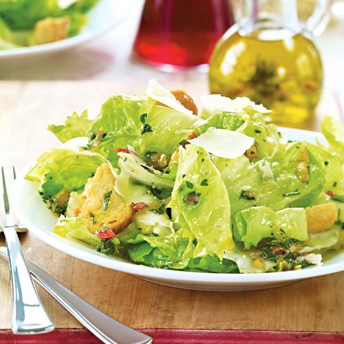 Escarole E Alicette Escarole Salad With Spicy Anchovy Vinaigrette Recipe Wegmans